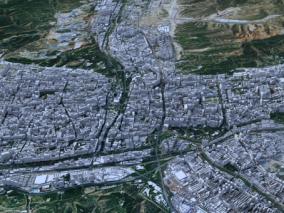 西宁市城市3d模型 西宁市数字城市模型 西宁市建筑规划 效果图鸟瞰 西宁市城市3d白模简模 西宁市全