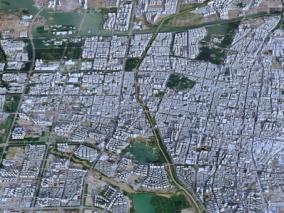 银川市城市3d模型 银川市数字城市模型 银川市建筑规划 效果图鸟瞰 银川市3d白模简模 银川市全景鸟
