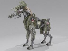 科幻机械狗 仿生机器人 科幻机甲 机械狗 仿生四足机器人 机器狗 科幻机械狗 机械怪兽 3D模型