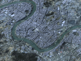 吉林市城市3d模型 吉林数字城市模型  吉林建筑规划 效果图鸟瞰 吉林城市3d白模简模 吉林全景鸟瞰