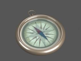 罗盘 指南针 宝藏 航海 南北极 司南 户外道具 3D模型