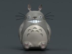 龙猫 卡通龙猫 可爱龙猫 卡通角色 龙猫手办 玩具 娃娃 3d模型