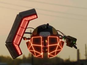 无人机 科幻飞行器  3d模型