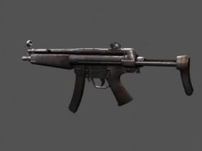 微型冲锋枪 轻型武器 MP5半自动步枪 自动机枪 冲锋枪 低模枪械 机关枪 3D模型