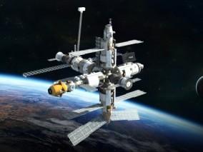 影视级 太空空间站 高科技 太空实验室 太空舱 航空航天