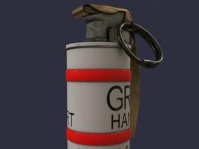 烟雾弹 手榴弹 炸弹 闪光弹 手榴弹 3d模型