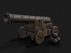 加农炮 古代明朝大炮 火炮 青铜炮 舰炮 战船巨炮 老式火炮 3d模型
