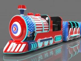 游园火车  小火车 观光车 嘟嘟小火车 游乐设备 观览火车 3d模型