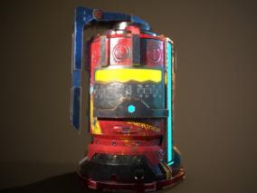 科幻手榴弹  爆破道具 概念级香瓜手雷 能量手榴弹 高科技 3d模型