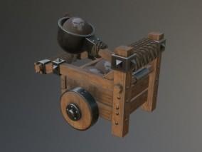 弹射器 投石车 投石器 攻城车 投弹车 攻防投石器 古代武器  3d模型