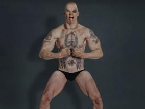 纹身男性 男性角色 裸体男性