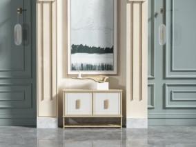 现代时尚 室内场景 装饰柜 3d模型