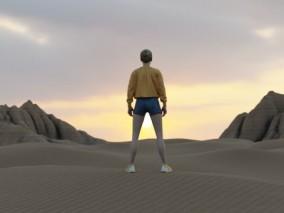 沙漠 外星球 火星 地表面场景