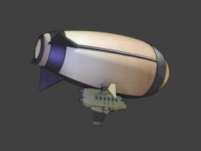 漫画场景 卡通场景 科幻场景 飞艇 气挺 飞船 热气球 科幻飞行器 卡通飞行器 3d模型