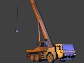 漫画场景 卡通场景 交通工具 车辆 特种车 吊车 工程车 塔吊 重型车辆 重型机械 建筑工程车