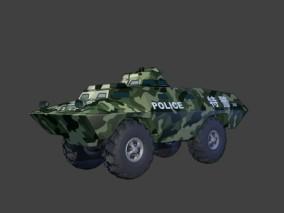 漫画场景 卡通场景 交通工具 车辆 军事装备  机车 坦克 运兵车 3d模型