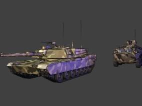 漫画场景 卡通场景 军事装备 武器 车辆 装甲车 战车 坦克 步战车 警车 轮式战车 侦察车