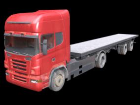 PBR-货车 货柜车 3d模型