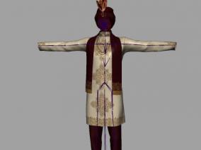 maya波西王子 长袍印度服饰 澳大利亚衣服模型 带骨骼 3d模型