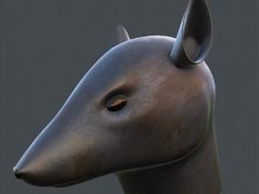 十二生肖鼠头模型