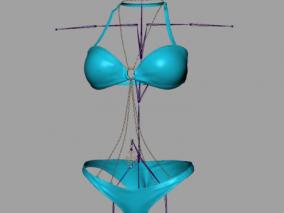 女生内衣内裤模型 少妇比基尼 情趣内衣 带骨骼权重4K贴图 3d模型