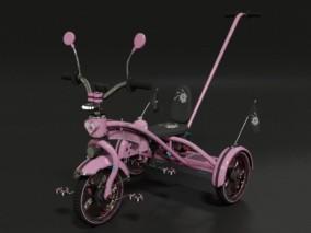 童车 儿童三轮车 3d模型