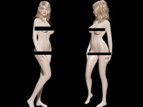 高精度写实女人体 漂亮美女模型带高清贴图 美女女人体 女人体 美女基础模型 基础身体 人体