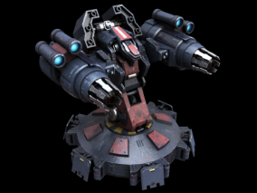 PBR-科幻 机械 炮台 炮塔