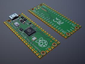 树莓派 Raspberry Pi Pico 单片机PCB芯片 嵌入式单片机 电路板  3d模型