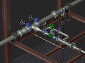 管道 阀门 水管 3d模型