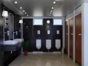 卫生间 公共卫生间 公厕 3d模型