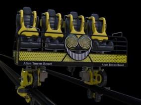 轨道缆车 过山车 安全座椅 3d模型