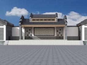 古建中式戏台舞台 3d模型