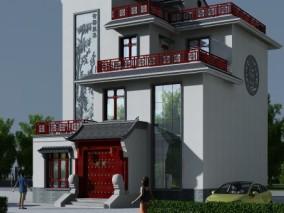 新中式 别墅  住宅 中式别墅  古建