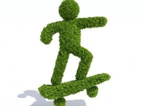 草雕滑板少年 3d模型
