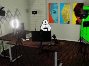 直播房间   办公室   3d模型