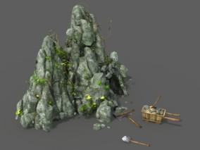 矿洞 山洞 采矿山洞 矿石山洞 游戏模型 lowpoly-39-301461