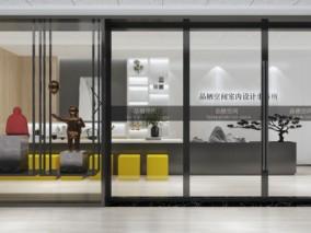 现代前台接待办工室 3d模型