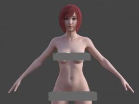 女性感裸模基础模型亚洲女性写实女人