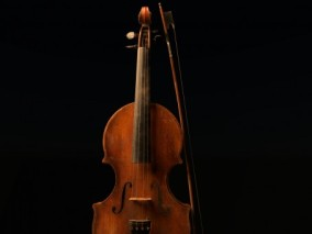 交响乐 复古 旧小提琴 管弦乐器 高级乐器 旧乐器  3d模型