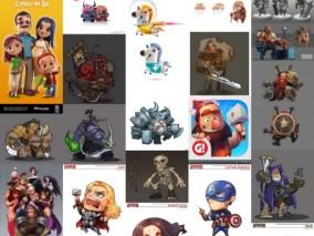 Q版 卡通 角色 怪物 宠物 武器 参考 图集 3d模型
