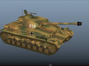 德国虎式坦克 重型坦克 陆军坦克 二战德国坦克 坦克大战 装甲车 3d模型