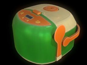Q版 电饭煲 3d模型