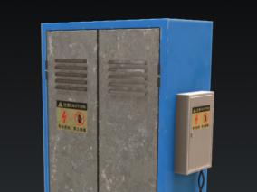 室外变速电箱 3d模型