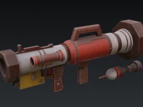 Q版 火箭筒 3d模型