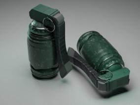 手榴弹 炸弹 投掷武器 3d模型