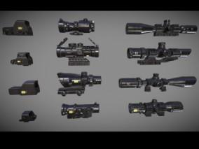 12个 瞄准器 瞄准镜 狩猎 8倍镜 狙击 步枪 猎枪 霰弹枪 消音器 手枪 Mp5 M4 火箭筒