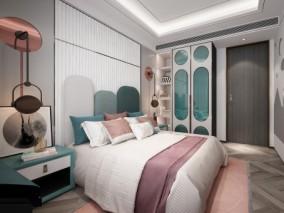 现代卧室 主人房 3d模型