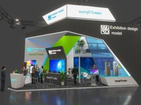 现代时尚展览 展示 展厅 3d模型