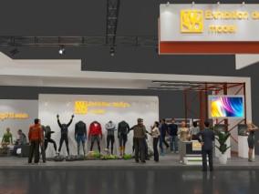 现代时尚商业展览 展示 展厅 3d模型